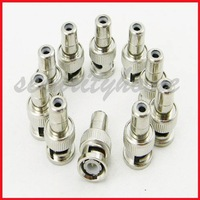 New 10 Lots BNC male to RCA Female Adapter for Video cable