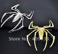 Free shipping, 3D car stickers Spider-Man Car sticker 5 pcs/lot wholesales car sticker