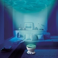 45pcs/ctn wholesale Led Night Light Ocean Daren Waves Projector Projection Lamp sound box audio Speaker with DC adapter