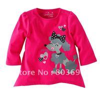 100% хлопок baby розовый цвет я люблю папа с длинным рукавом t рубашка Топ тройник 5574