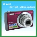 "Free shipping fashion digital camera DC-T500 14MP SONY CCD brand camera with 5X optical zoom and 3""touch panel Purple(China (Mainland))"