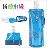 Eco-friendly folding water bag water bag water bottle glass sports bottle color 50g