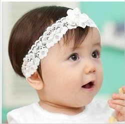 Super cute baby pearl floret, bud silk hair band,baby headwear(China (Mainland))
