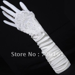 10pcs/lot Freeshipping 2012 New Arrival GK White Fingerless Evening Party Prom Bridal Gloves Wedding CL3126(China (Mainland))
