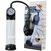 Brand new automatic pressure penis pump, penis enlargement,men's sex toys with pressure gauge+free shipping