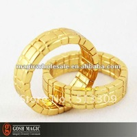 Free Shipping! Himber Ring Gold Cool Style ,3pcs/lot ,New Year wholesale magic tricks