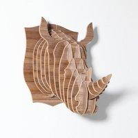 DHL Free Shipping! walnut wooden DIY Rhino head wall hanging,lobby/hotel/shop/office/bar decoration