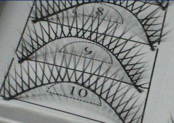 free shipping Hand-made False eyelashes 100pairs /lot (10pairs=1 box)  C0001