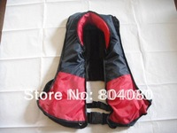 2012 New Style Guaranteed 100% Polyester  fabric Manuual Inflatable life jackets 150N + free shipping