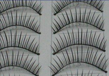 free shipping Hand-made False eyelashes 100pairs /lot (10pairs=1 box)  C005