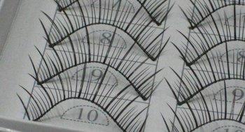 free shipping Hand-made False eyelashes 100pairs /lot (10pairs=1 box)  C0011