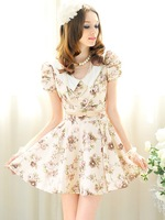 New arrival top of sale  woman&#39;s dress ,flower printed dress Euro-American style skirt free shipping