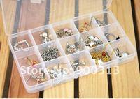 10X White15-checks Jewelry Display Storage Boxes Beads Holder