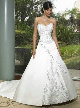 New Design Embroidered Bridal Wedding Dresses Sweetheart Off Shoulder Gorgeous Embroidered,Popular Bride Wear/Dress,Custom Made