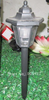 solar garden lamp lawn lighting small power high shiny IP65 waterproof rate hard plastic body long life(China (Mainland))
