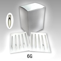 Wholesale - 100 X Sterile Tattoo Body Piercing Needles SZ 6G PN113