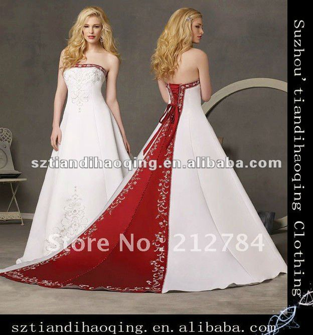 Two Colour Wedding Dresses 114