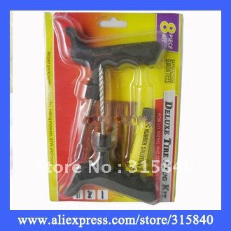 1pc Safety Car Bike Auto Tubeless Tire Tyre Puncture Plug Repair Cement Tool Kit As Seen On TV -- MTV43 Wholesale