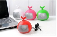 60pcs/ctn wholesale USB Speaker Mini fruit Speaker Computer fittings speaker sound box 250g/pc With USB connector