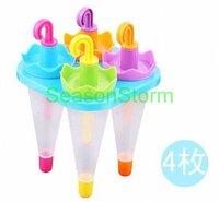 [CPA Free Shipping] Wholesale 4pcs/set DIY Ice Cream Sticks Box / Cute Umbrella Style Popsicle Box (SX-88)