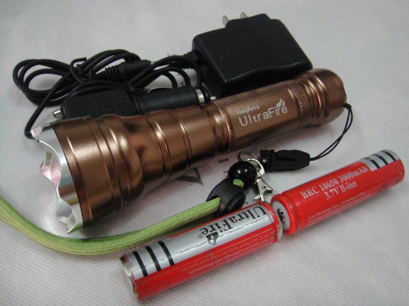 Фонарик UltraFire 12W 2000Lumen CREE xm/l T6 18650 Flashlight фонарик ultrafire 2000 lanternas cree xm l t6 18650 linternas xml t6