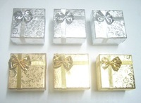 Free Shipping 24pcs/lot 5x5x3cm Mix color Jewelry Packaging Ring & Earring Gift Box BX7