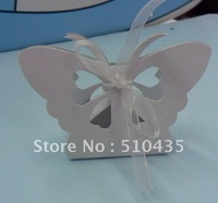 Free shipping!Butterfly Shaped white Wedding Favor Box,Candy Box (ea014
