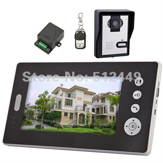 Digital Wireless Color Video Door Phone Intercom 7 inch Monitor 2.4GHz Outdoor IR Nightvision CMOS Camera 1 to 1(China (Mainland))