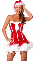 Женский эротический костюм Sexy Christmas Costume Santas Dress Holiday Clothes Ship 7127