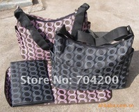 6pcs/lot--3 designs circles/designer diaper bags/mammy bag/waterproof mama bag