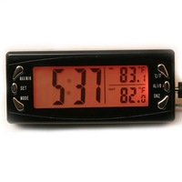 LCD Display Digital Automotive Car Clock with Hygrometer AUTO Thermometer Weather Forecast
