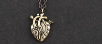Min Order $15 (can mix order) Alloy Punk Heart Gothic  Pendant Vintage Unisex Necklace Retail