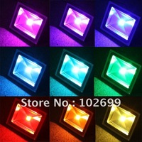 50W LED RGB Color Change Flood Outdoor Light Lamp Remote Control IP65 85-265V