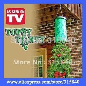 3pcs New 2015 Topsy Turvy Upside Down Tomato Planter Hanging Basket Plants As Seen On TV -- MTV53 PA05