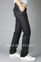 Promotion 2012 free shopping Korea Men's Slim Fit Classic Jeans Trousers Straight Leg