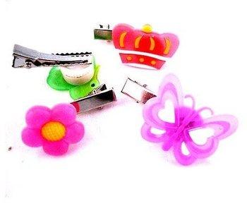 LED flashing hair clip,flash hair clip ,LED hair clip 100 pieces/lot Free shipping