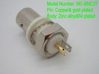 Wholesale 1000pcs BNC Coaxial Adaptor Copper Contact Pin Zinc Alloy Body for RF Connectors