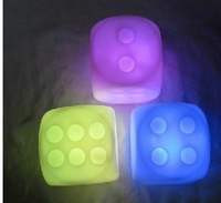 Free shipping! Romantic colorful dice led light boulimia small night light luminous bosons flash toys props