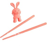Rabbit Plastic Chopsticks With Silicone Cap -Great For Kids/ Children Eating Training And Learning - 204942