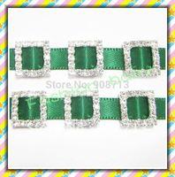 mini square shape rhinestone buckle for invitation cards