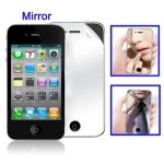 Free Shipping Screen Guard for iPhone 4 & 4S with Mirror