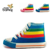 kids's shoes girl boy colorful shoes sneakers high quality rainbow shoes 2012 new