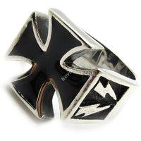 Black Windrunner Lightning Cross Ring Hot Selling Biker Stainless Steel Mens Ring New Gift