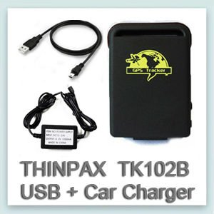 Thinpax TK102B GPS Tracker+USB cable +Car Charger real time gps tracking system mini gps personal tracking(China (Mainland))