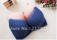 Free shipping lolita style seamless minimized design pure color lace decoration women bra