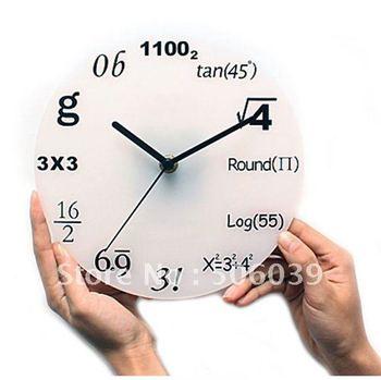 free shipping digital quartz math wall clock