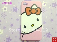 Free dhl shipping !!500Pcs cartoon Series On sale cover for iphone4g, Cheap hello kitty case for Iphone 4 4S