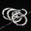 6000pcs Silver Plated Key Ring Chains Key Chain Rings Copper Open Jump Rings Loop Findings 160406(China (Mainland))