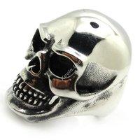 Men's Ring Biker Fashion 316L Stainless Steel Gothic Huge Design Evil Skull Ring Size 8-15