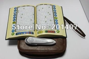 5pcs /lots word by word Tajweed digital quran read reader pen QM8900 4GB  leather bag Quran player